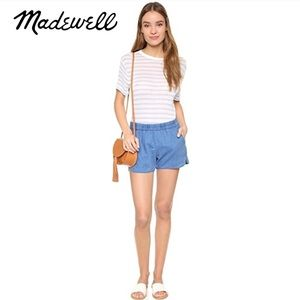 Madewell Chambray Linen Pull On Shorts